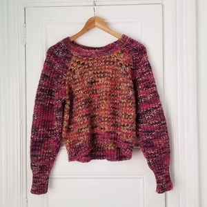 Fluffy Cropped Woolblend Sweater - Anthropologie